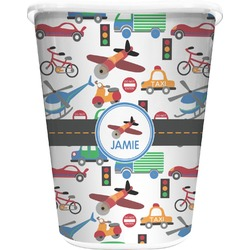 Transportation Waste Basket - Double Sided (White) (Personalized)
