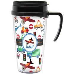 Transportation Travel Mug with Handle (Personalized)
