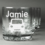 Transportation Whiskey Glasses (Set of 4) (Personalized)