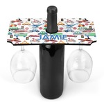 Transportation Wine Bottle & Glass Holder (Personalized)