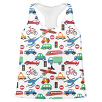 Transportation Womens Racerback Tank Top (Personalized)