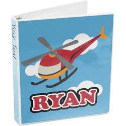 Helicopter 3-Ring Binder (Personalized)