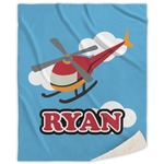 Helicopter Sherpa Throw Blanket (Personalized)