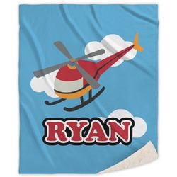 """Helicopter Sherpa Throw Blanket - 50""""x60"""" (Personalized)"""
