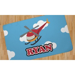 Helicopter Area Rug - 5'x8' (Personalized)