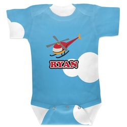 Helicopter Baby Bodysuit 3-6 (Personalized)