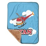 """Helicopter Sherpa Baby Blanket 30"""" x 40"""" (Personalized)"""