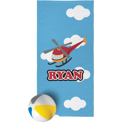 Helicopter Beach Towel (Personalized)
