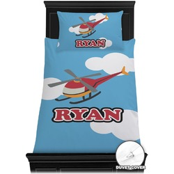 Helicopter Duvet Cover Set - Toddler (Personalized)