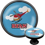Helicopter Cabinet Knob (Black) (Personalized)