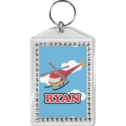 Helicopter Bling Keychain (Personalized)