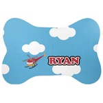 Helicopter Bone Shaped Dog Food Mat (Personalized)