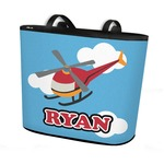 Helicopter Bucket Tote w/ Genuine Leather Trim (Personalized)