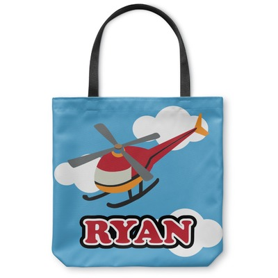 Helicopter Canvas Tote Bag (Personalized)