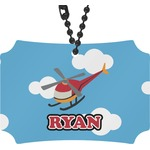 Helicopter Rear View Mirror Ornament (Personalized)