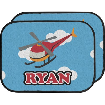 Helicopter Car Floor Mats (Back Seat) (Personalized)