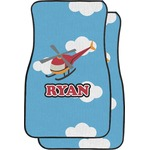 Helicopter Car Floor Mats (Front Seat) (Personalized)