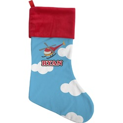 Helicopter Christmas Stocking (Personalized)