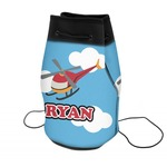 Helicopter Neoprene Drawstring Backpack (Personalized)