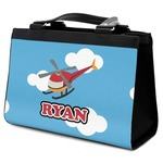 Helicopter Classic Tote Purse w/ Leather Trim (Personalized)
