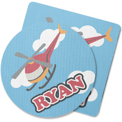Helicopter Rubber Backed Coaster (Personalized)
