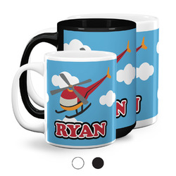 Helicopter Coffee Mugs (Personalized)