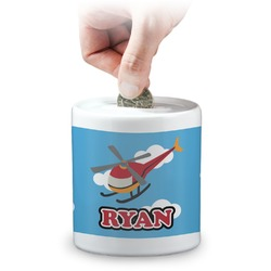 Helicopter Coin Bank (Personalized)