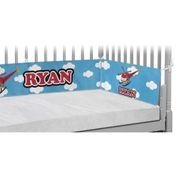 Helicopter Crib Bumper Pads (Personalized)