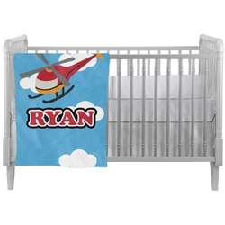 Helicopter Crib Comforter / Quilt (Personalized)
