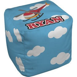 Helicopter Cube Pouf Ottoman (Personalized)