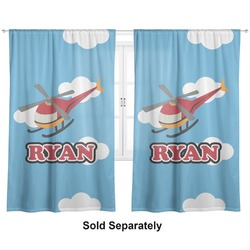"Helicopter Curtains - 20""x54"" Panels - Lined (2 Panels Per Set) (Personalized)"