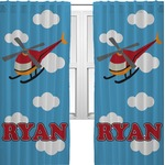 Helicopter Curtains (2 Panels Per Set) (Personalized)