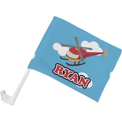 Helicopter Car Flag (Personalized)