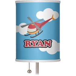 """Helicopter 7"""" Drum Lamp Shade (Personalized)"""