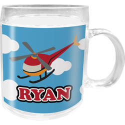 Helicopter Acrylic Kids Mug (Personalized)
