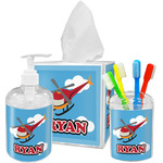 Helicopter Acrylic Bathroom Accessories Set w/ Name or Text