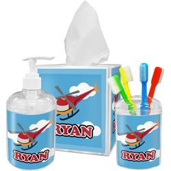 Helicopter Bathroom Accessories Set (Personalized)