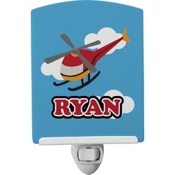 Helicopter Ceramic Night Light (Personalized)