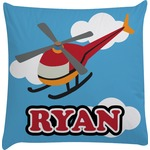 Helicopter Decorative Pillow Case (Personalized)