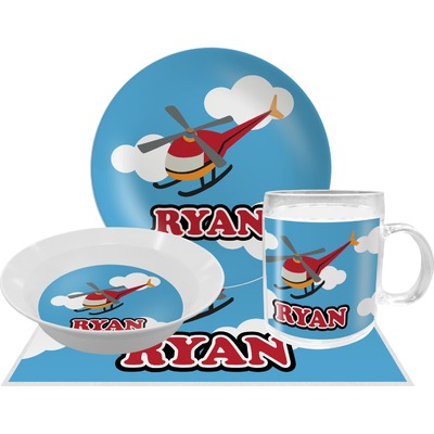 Helicopter Dinner Set - 4 Pc (Personalized)