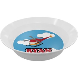 Helicopter Melamine Bowl (Personalized)