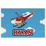 Helicopter Laminated Placemat w/ Name or Text