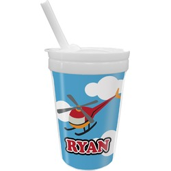 Helicopter Sippy Cup with Straw (Personalized)