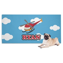 Helicopter Dog Towel (Personalized)