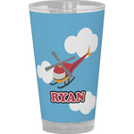 Helicopter Drinking / Pint Glass (Personalized)