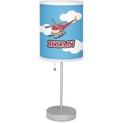 """Helicopter 7"""" Drum Lamp with Shade Linen (Personalized)"""