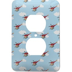 Helicopter Electric Outlet Plate (Personalized)