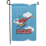 Helicopter Garden Flag - Single or Double Sided (Personalized)