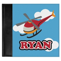 Helicopter Genuine Leather Baby Memory Book (Personalized)