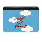 Helicopter Genuine Leather Front Pocket Wallet (Personalized)